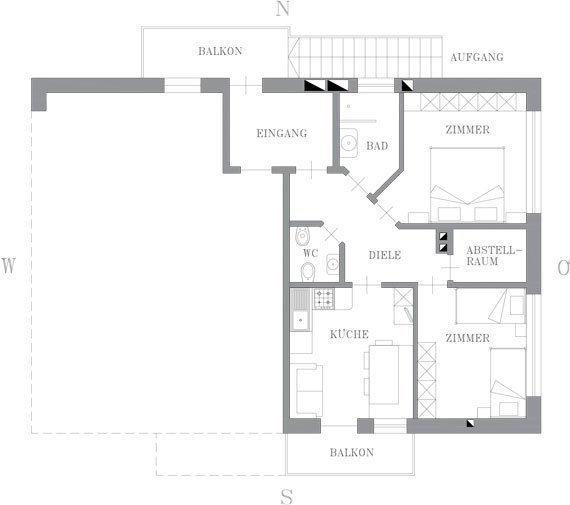 Grundriss - Wohnung Fichte